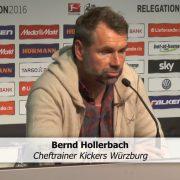 """Würzburgs Trainer Hollerbach: """"Tut mir leid für Duisburg"""""""